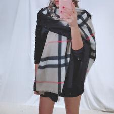 Scialle donna sciarpa pashmina coprispalle stola scarf frange scozzese S201285