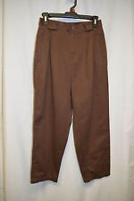 Womens Pants Size 10 Petite By Cabin Creek Brown Jean Pleated Front  Pockets
