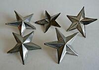 lot de 5 grandes étoiles en métal argenté à épingler 1900