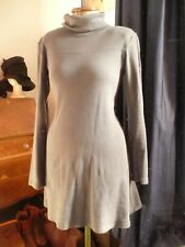 American Apparel Grey Turtle Polo Neck A Line Skater Dress tunic small