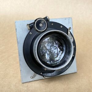 Carl Zeiss Tessar 210mm 1:4.5 Vintage Large Format Lens W/ Lens Board - GOOD