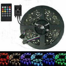 SUPERNIGHT® 5M 5050 RGB 300 LED Strip Light Black PCB + 20keys Music Remote