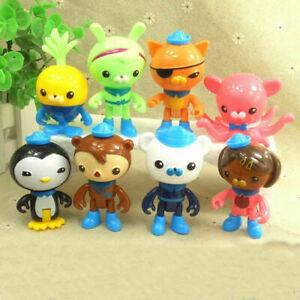 8pcs Set The Octonauts Figures Octo Crew Pack Playset PVC Action Figure Doll Toy