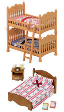 Sylvanian Families – Two Bed Sets Together – Double Bunk Bed & Semi-Double Bed