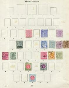 NATAL: Victoria-Edward VII Examples - Ex-Old Time Collection - Page (41692)