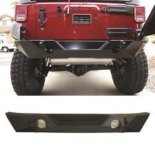 07-17 Jeep Wrangler JK Full Width Rear Bumper Rock Crawler Tabs Black Textured