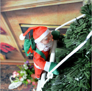 Fantastic Climbing Santa With Rope Ladder Outdoor Christmas Decoration Gift