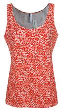 Womens B.C Long Vest Tank Top Figure Fit Animal Print Orange Beige Size 6 to 14
