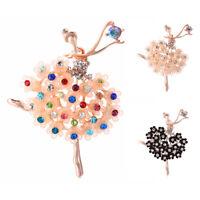 Ballet Bailarina chica Broche Pin Diamantes de imitación Cristal Joyas Regalos