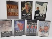 Lot of 7  Kenny Rogers & Dolly Parton Cassette Tapes - Many Hits - Free Shipping