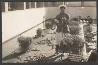Postcard Port Elizabeth in South Africa snake charmer in pit RP early