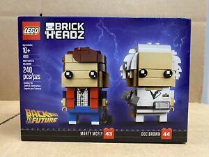 LEGO BrickHeadz - 41611 - Marty McFly & Doc Brown - NEW - SEALED - FREE SHIPPING