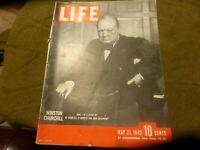 LIFE May 21,1945 Winston Churchill Closeup pt 1 / Germany Surrenders / V-E Day