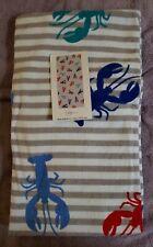 "Mainstays Beach Towel Bath Towel Lobsters 100% Cotton  28""×60"""