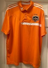 Houston Dynamo Adidas Polo Shirt MLS Soccer Size Adult XL Orange / White