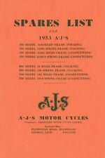 AJS 16 18CS Parts Book and Matchless G3L Rigid Frame & Spring Frame Illustrated