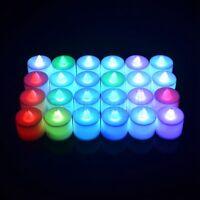 24X Flameless LED Submersible Waterproof Wed Xmas Vase Tea Light Candles Pink GW