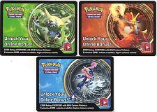 1 x Pokemon Unused Code Card ONLINE Bonus EX CHESNAUGHT DELPHOX GRENINJA C31