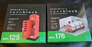 NANOBLOCK LONDON UNDERGROUND NBH 176 and Telephone Box NBH 125 Mini Blocks New
