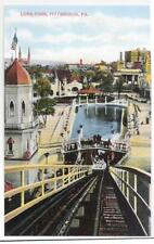 2 PC LOT,REPRO,SHOOTING THE CHUTES & ENTRANCE TO LUNA PARK,OAKLAND~PITTSBURGH,PA
