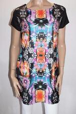 into Brand Black Floral Short Sleeve Shift Dress Size 8 BNWT #TA29