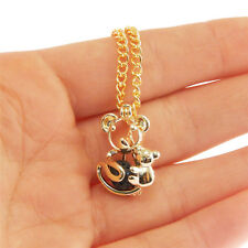 1pc Gold Hollow Koalas Metal Alloy Locket Pearl Cage Jewelry Charm Necklace