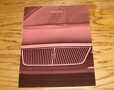 Original 1993 Lincoln Full Line Sales Brochure 93 Mark VIII Continental Town Car