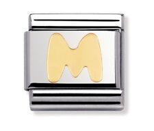Nomination Charm Gold Letter M RRP £18