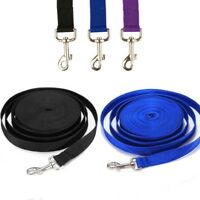 Nylon Dog Leash Long Obedience Recall Foot Feet Training Lead 8ft/16ft/33ft/66ft