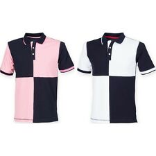 Mens Front Row Co Quartered House Rugby Polo Neck Collar Cotton Shirt Top