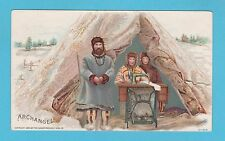 NATIONS - SINGER SEWING - RARE NATIONS / ADVERTISING CARD -  ARCHANGEL - 1894