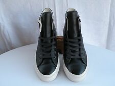Converse CTAS II Mens MESH BACKED LEATHER HI TP SZ 10 in Almost-Black Stealth!
