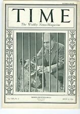 MAGAZINE TIME   Benito Mussolini  July 12 1926