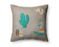 "Pillowfort Badges Decorative Throw Pillow - Gray - 16""x16"""