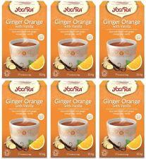 Yogi tea ginger orange avec vanille tea - 17 sachets (pack de 6)