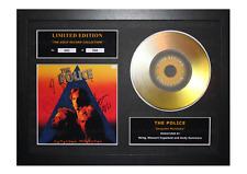 More details for the police signed gold disc album ltd edition framed picture memorabilia
