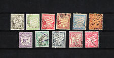MONACO timbre  taxe   lot de 11 timbres    oblitéré