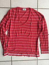 Lacoste pull fin coton viscose rose soutenue taille 42 Neuf