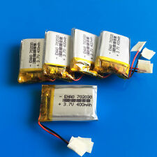 5x 3.7V 400mAh LiPo Polymer Battery Cells for MP3 DVD GPS Camera Recorder 702030