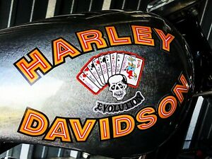 Harley Davidson And The Marlboro Man FXR Gas Tank Decals Movie Bike Replicas