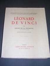 Léonard de Vinci par Gilles de la Tourette 1932 illustré de 96 planches