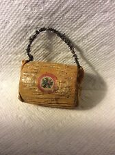 ANTIQUE GERMAN PAPER MUFF  CANDY CONTAINER CHRISTMAS ORNAMENT