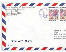 PHILIPPINES Cover *DAVAO CITY* CONVENT 1991 MISSIONARY Air Mail MIVA CF238