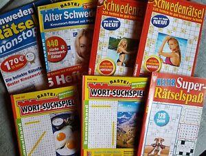 "Neue Rätselhefte/Rätselbücher  "" Gegen Langweile "" Bastei-Schwedenrätsel-Kelter"