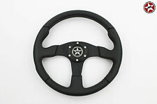 Stoney Racing Genuine Leather Steering Wheel 350mm Sports Racing Universal Horn