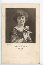 Dic Facings - Flat Broach Pin ADVERTISING Antique Louisville Dental Depot 1917