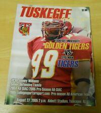 Tuskegee Golden Tigers vs Stillman Tigers Football Game Program 2005