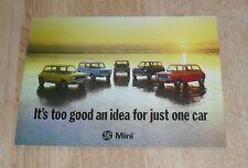 Austin Mini Brochure 1975 - 850 1000 Clubman Saloon & Estate 1275 GT 3040/F