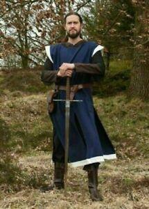 15th Century Fashion Medieval Tunic Reenactment Roman Arming Blue Color