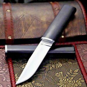 Japanese Clip Point Knife Mini Samurai Hunting Combat Tactical D2 Steel Wood Cut